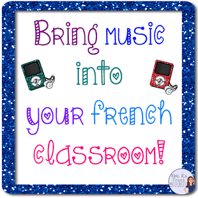 List of French songs to help teach vocabulary and grammar