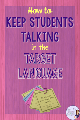 How to keep students talking in the target language