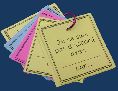 Speaking prompts and sentence starters for French students