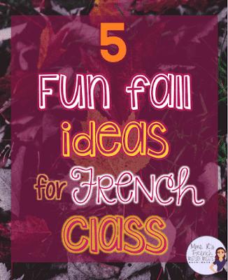 5 fun fall ideas for French class