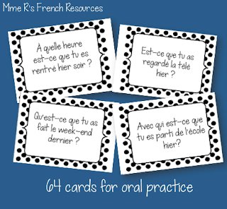 This speaking activity for practicing the passé composé is one of my Mme R's most popular resources.