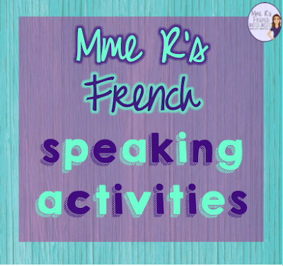 Mme R's French Resources has many fun and effective speaking activities for all levels of French.