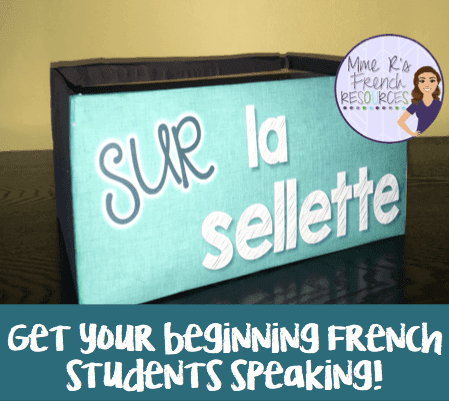 French speaking activity for beginning students