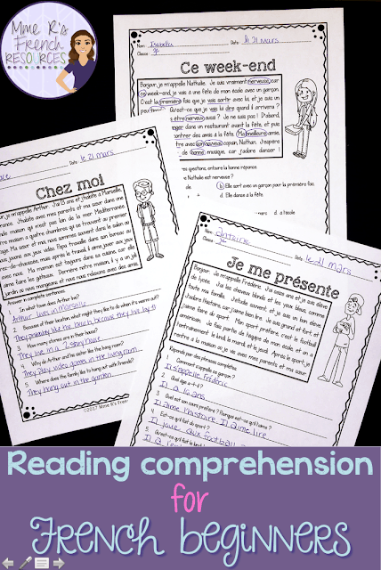 French reading passages with différentiation