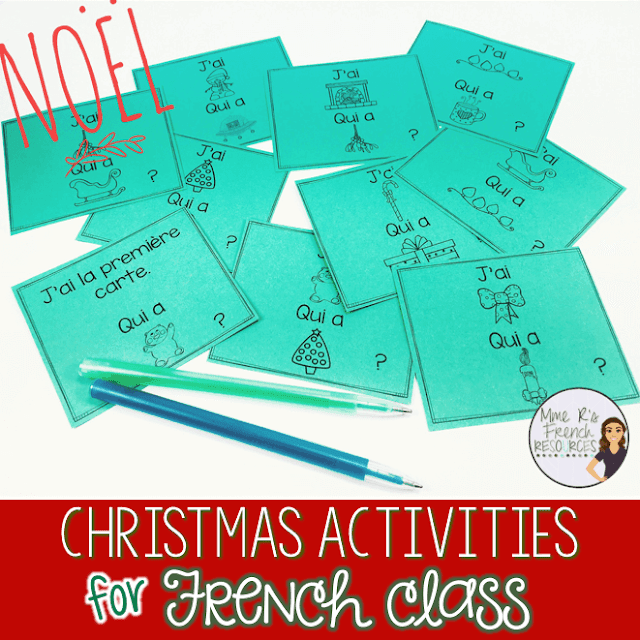 French speaking activities for Christmas