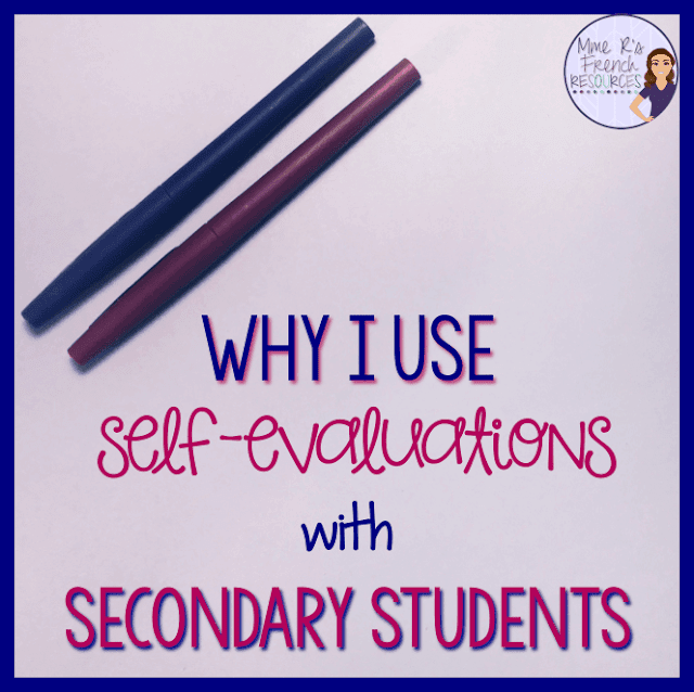 Why I use self-evaluations with secondary students