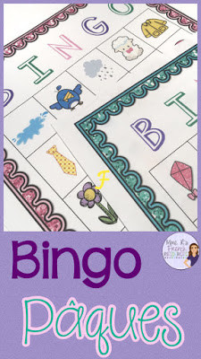 French Easter Bingo game - great for French immersion, core French, and FSL