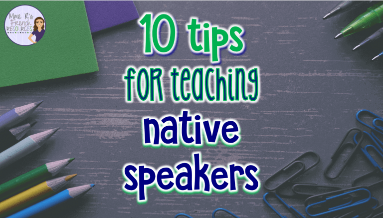 10 tips for teaching native speakers