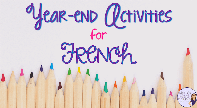 Year-end activities for French