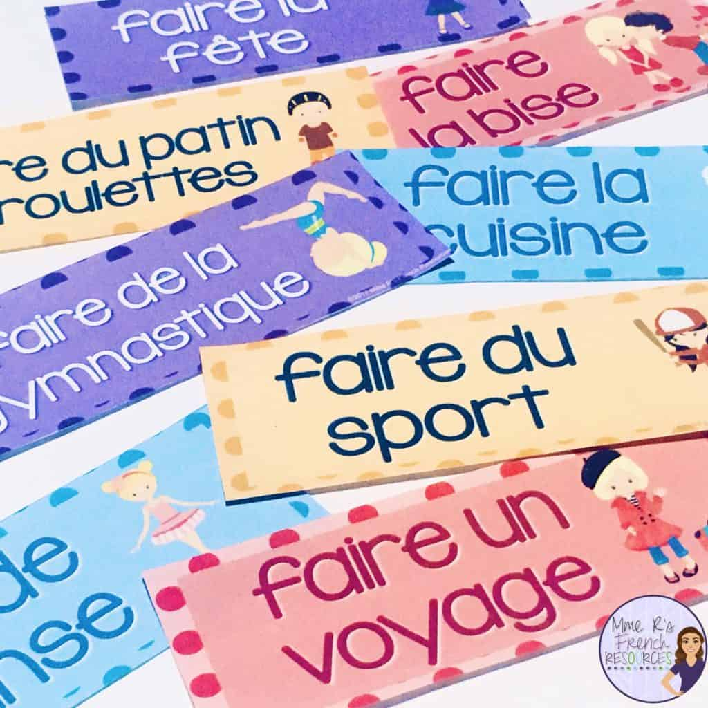 French-faire-expressions-word-wall