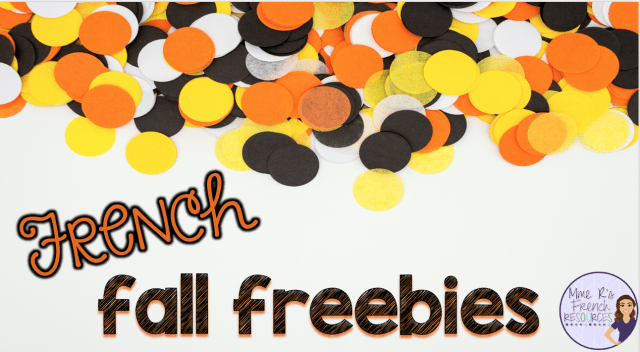Fall freebies for French