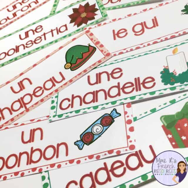 French-christmas-word-wall