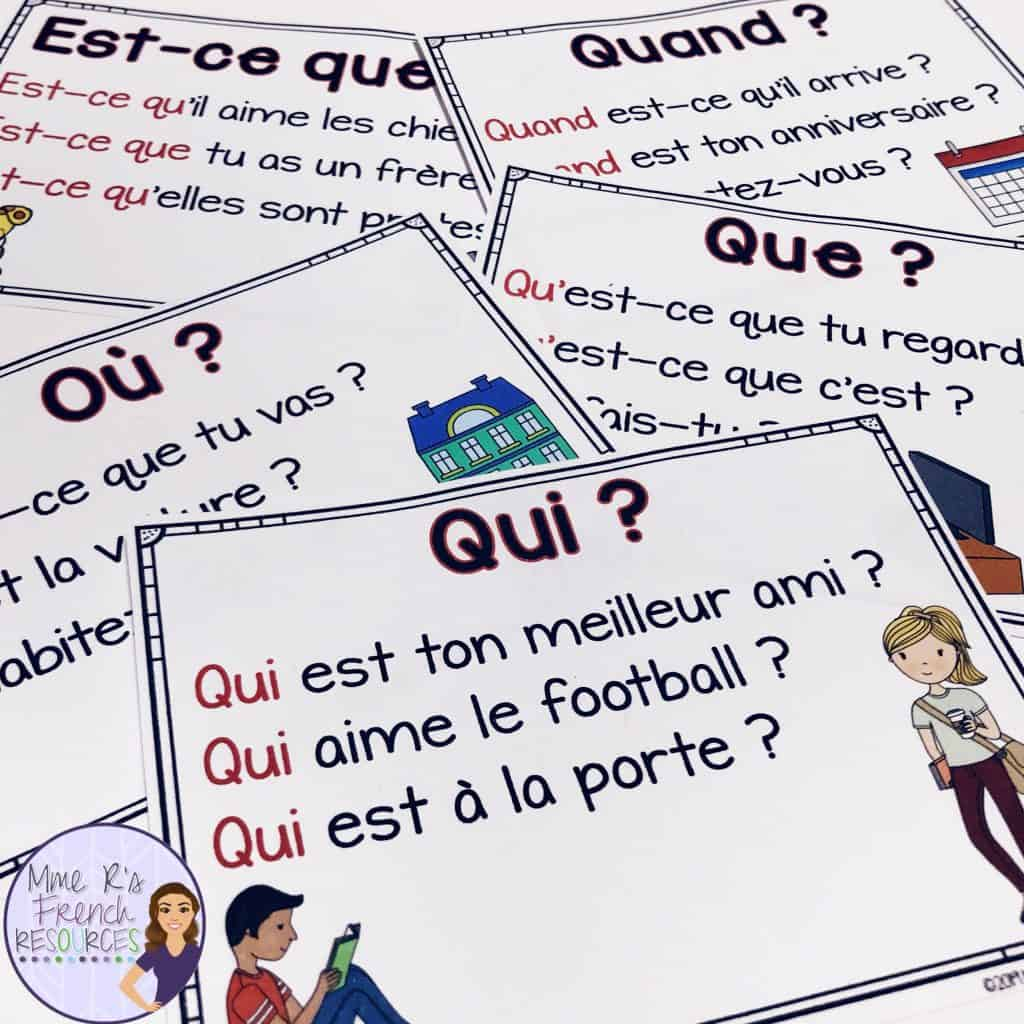 French-question-word-posters
