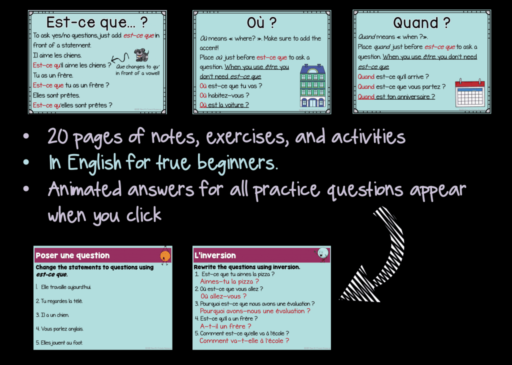 Teaching French question words | Mme R's French Resources