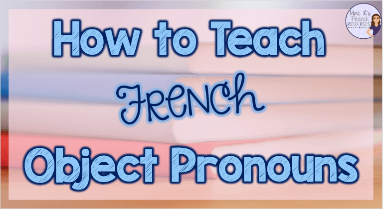 French direct and indirect objects