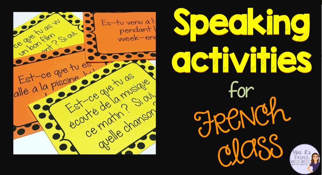 French-speaking-activities