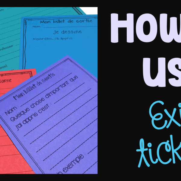 How to use exit tickets