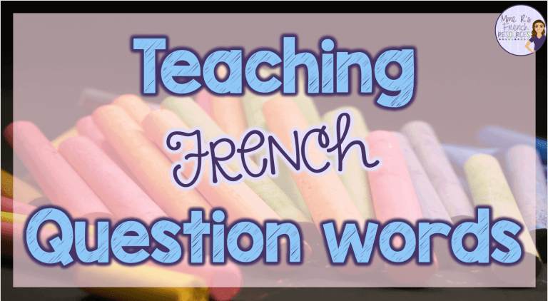 Teaching French question words