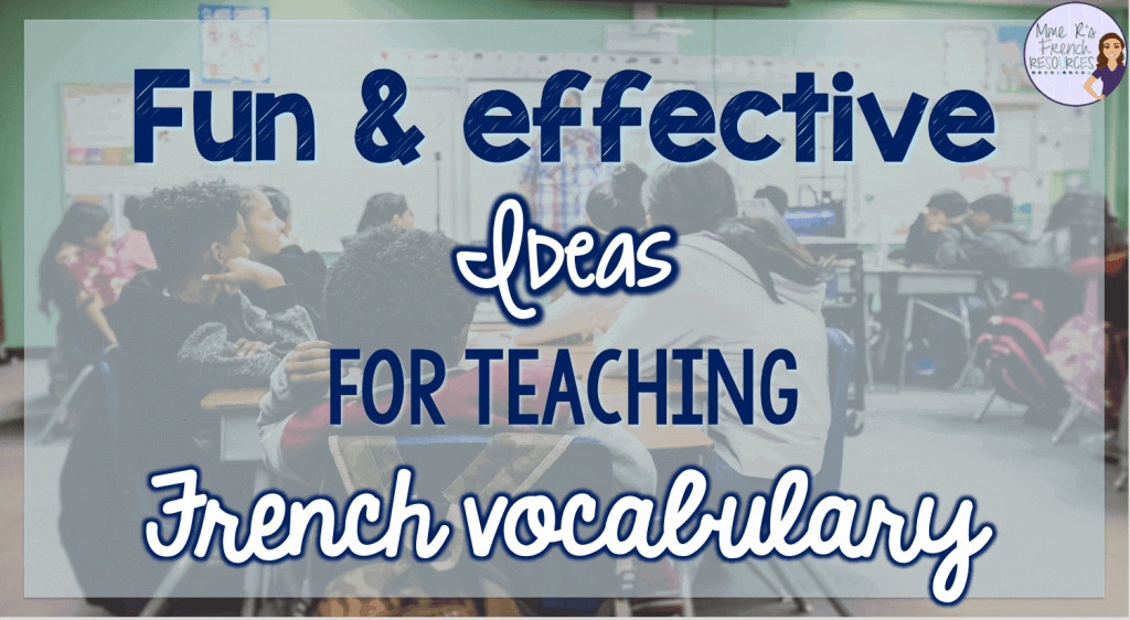 teaching-French-vocabulary